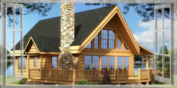 log cabin blog banner
